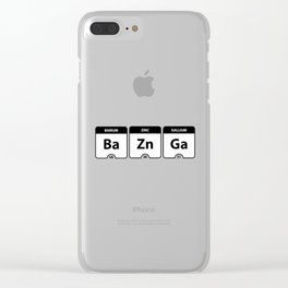 Bazinga Periodic Table Funny Quote Clear iPhone Case
