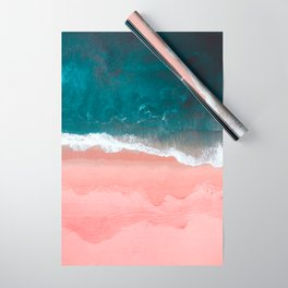 Turquoise Sea Pastel Beach III Wrapping Paper
