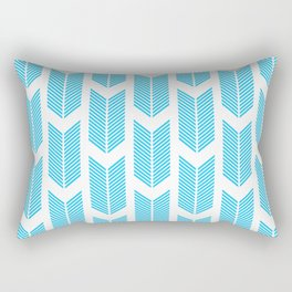 Simple Aqua and white arrow chevron - for your summer on #Society6 Rectangular Pillow