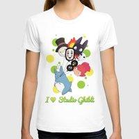 studio ghibli T-shirts featuring I ♥ Studio Ghibli by Lacis