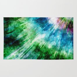 Abstract Grunge Tie Dye Rug