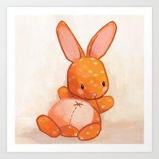 Le lapin qui aimait bien causer Art Print
