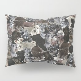 Schnauzer Collage Realistic Pillow Sham