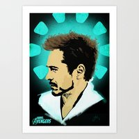 tony stark Art Prints featuring Tony Stark. by Tomcert