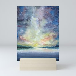 As the sun sets Mini Art Print