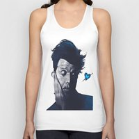 tom waits Tank Tops featuring Tom Waits - Blue Valentines by Brad Collins Art & Illustration