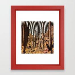 Pyschedelic desert Framed Art Print
