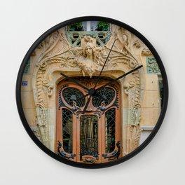 Art Nouveau Door in Paris Wall Clock