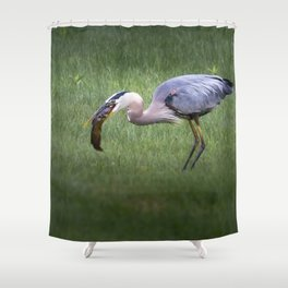 Hungry no more Shower Curtain