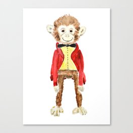 Mr Monkey Canvas Print