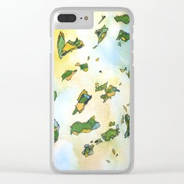 When Summer Turns To Fall Clear iPhone Case