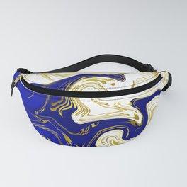 blue ,gold,rose,black,golden fractal, vibrations, circles modern pattern, Fanny Pack