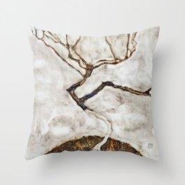 Egon Schiele - Small Tree In Late Autumn Throw Pillow
