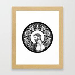 Halo Man Framed Art Print