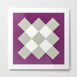 "Geometric Print ""Quilted"" Metal Print"