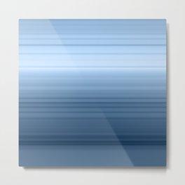 gradient , smoky, gray, blue , stripes Metal Print