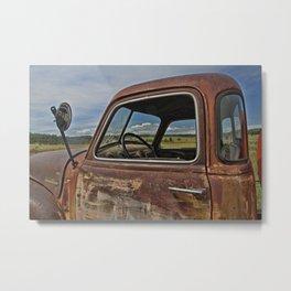 Old Tanker Cab Metal Print