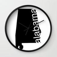 alabama Wall Clocks featuring Alabama by Isabel Moreno-Garcia