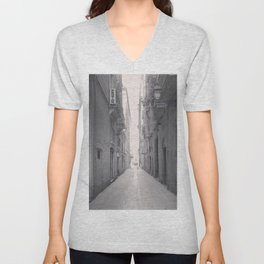 Old town Barcelona Unisex V-Neck