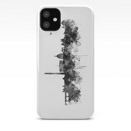 Washington DC Skyline Black and White iPhone Case