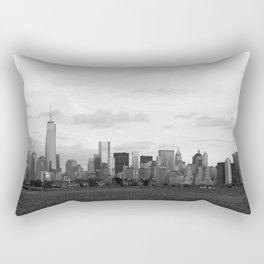 Manhattan Skyline from Liberty Park Rectangular Pillow