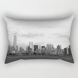 Manhattan Skyline from Liberty Park Rectangular Pillow