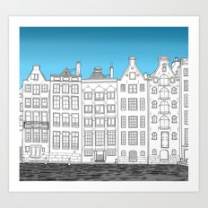 Dancing houses, Amsterdam Art Print