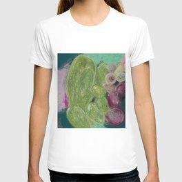 Cacti Illustration - Abstract, Nopales Drawing  T-shirt