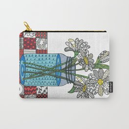 Daisies in a Mason Jar Carry-All Pouch