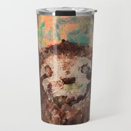 Deconstructed three-toed sloth hanging in a tree Travel Mug