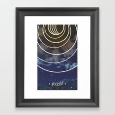 Moon Phases Framed Art Print
