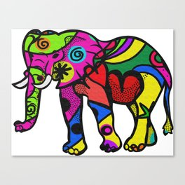 psychedelephant Canvas Print