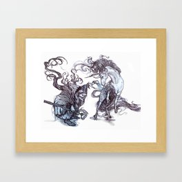 The Witch's Captive Framed Art Print