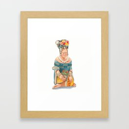Mesoamerican Seated Woman Framed Art Print