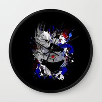 kakashi Wall Clocks featuring Kakashi Eye by feimyconcepts05