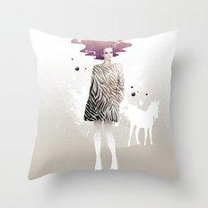 La Robe Zèbre Throw Pillow
