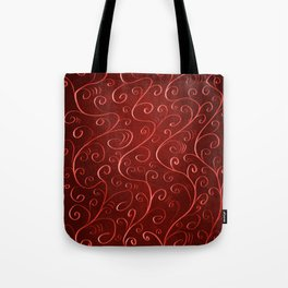 Whimsical Textured Glowing Rusty Red Swirls Tote Bag