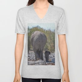 Elephant Love 5 Unisex V-Neck