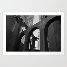 Overlapping Architecture Textures Black and White Art Print
