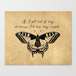Tennessee Williams - Demons and Angels - Quote Canvas Print