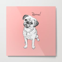 Cute dog but angry Metal Print