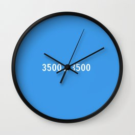 3000x2400 Placeholder Image Artwork (Dropbox Blue) Wall Clock