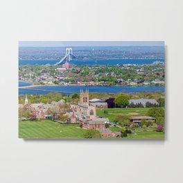 St. George's and Newport Bridge - Aquidneck Island, Rhode Island Metal Print