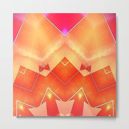 Vibrant South Western Inspired Abstract Metal Print