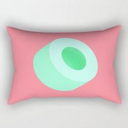 Green Tube Rectangular Pillow