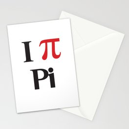 I Heart Pi Stationery Cards