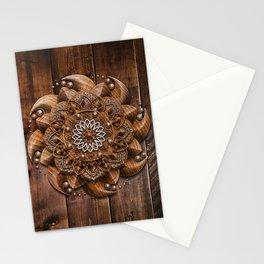 Wooden Mandala Stationery Cards
