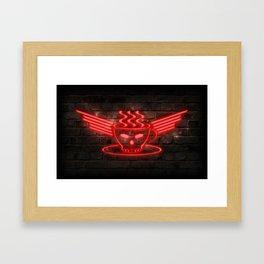 Barista Core Neon Framed Art Print