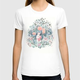Bunny with Lilies & Lanterns T-shirt