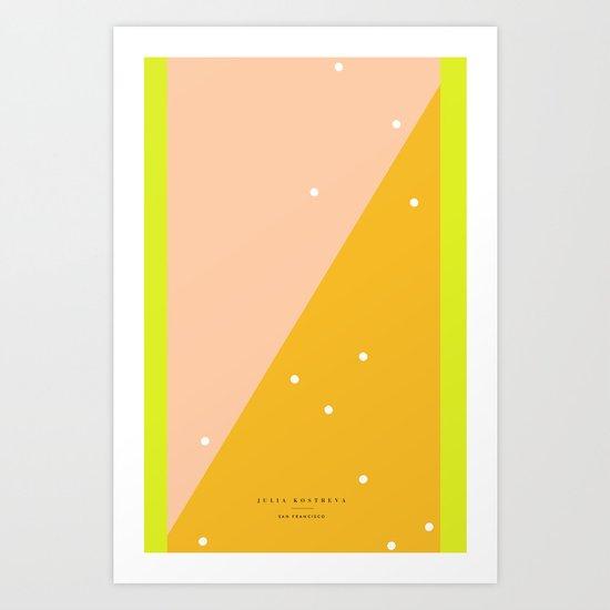 Peach - 5s/5 Art Print